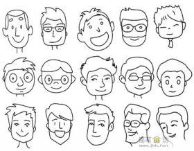 简笔画男生头像表情简笔画图片素材