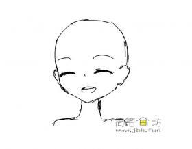 简笔画微笑的表情画法