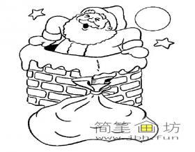7幅圣诞老人简笔画图片素材