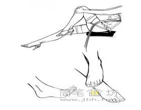 4幅简笔画脚和腿的画法图片
