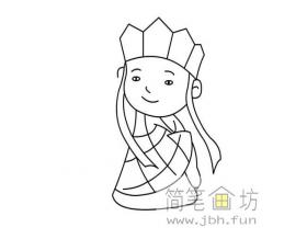 儿童简笔画:唐僧的简笔画图片