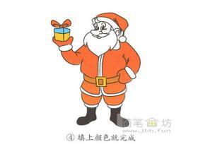 简笔画圣诞老人的画法