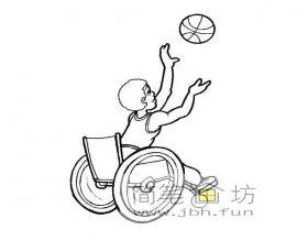 残疾篮球运动员简笔画图片