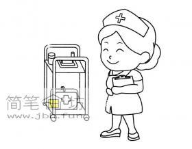 小护士简笔画图片