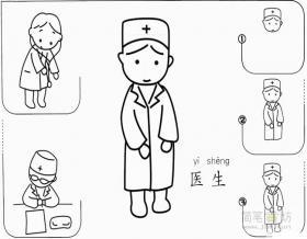 简笔画医生的画法步骤教程