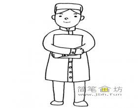 儿童简笔画美丽的护士的简笔画教程