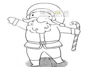 简单的圣诞老人的简笔画绘画步骤