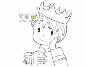 简单的步骤画帅气的王子的简笔画