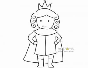 小王子的简笔画的画法图解教程