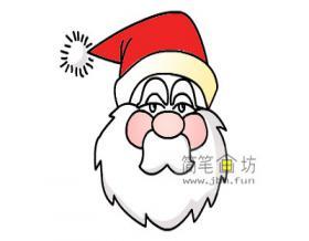 圣诞老人的简笔画教程【彩色】