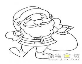 圣诞老人的简笔画素材1幅
