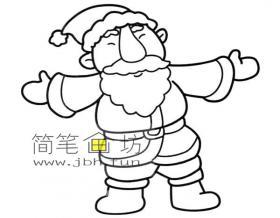 圣诞老人简笔画图片