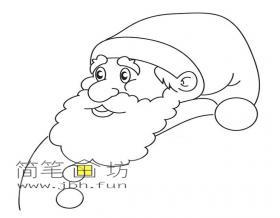 胖胖的圣诞老人简笔画图片