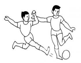 踢足球运动员简笔画图片