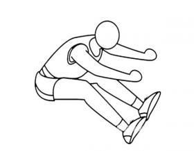 跳远运动员简笔画图片