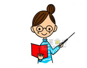正在教书的女老师的简笔画画法【彩色】