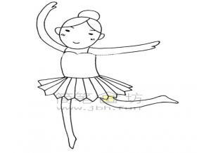芭蕾舞女孩简笔画教程