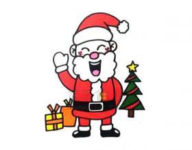 圣诞老人简笔画绘画教程【彩色】