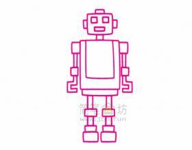 机器人简笔画绘画步骤
