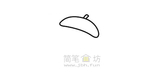 拿毛笔的老爷爷简笔画绘画步骤图解教程【彩色】(1)