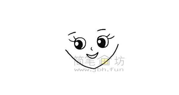 美丽的美人鱼简笔画绘画步骤【彩色】(3)
