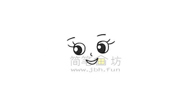 美丽的美人鱼简笔画绘画步骤【彩色】(2)