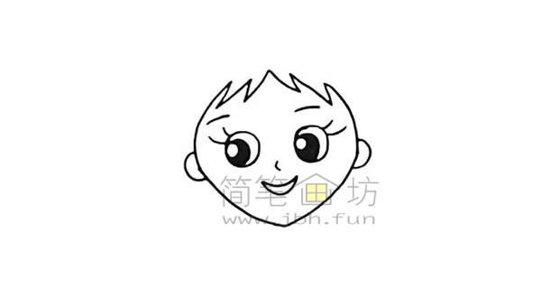 美丽的美人鱼简笔画绘画步骤【彩色】(4)