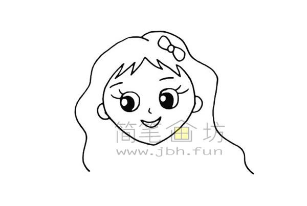 美丽的美人鱼简笔画绘画步骤【彩色】(5)