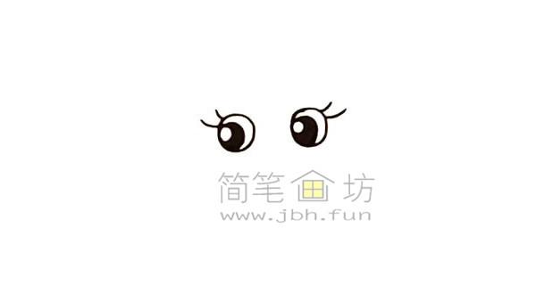美丽的美人鱼简笔画绘画步骤【彩色】(1)