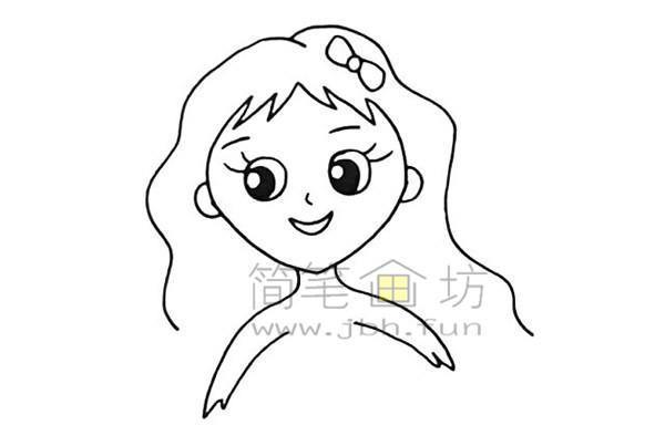 美丽的美人鱼简笔画绘画步骤【彩色】(6)