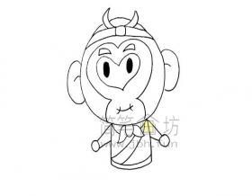 孙悟空简笔画绘画步骤教程