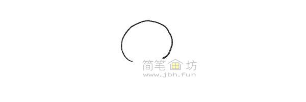 可爱的姜饼人简笔画绘画步骤【彩色】(1)