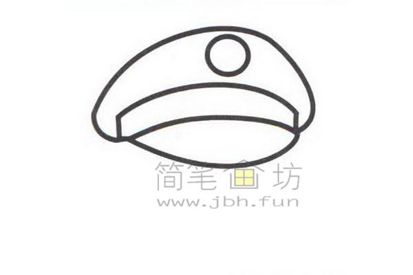 警察简笔画绘画步骤教程【彩色】(1)