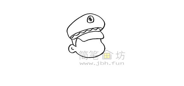 警察叔叔简笔画画法教程【彩色】(3)