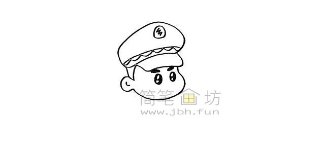 警察叔叔简笔画画法教程【彩色】(4)