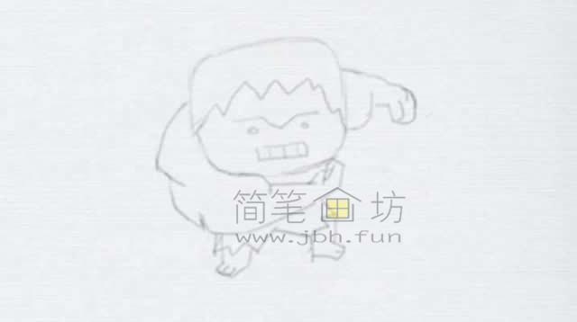 绿巨人简笔画绘画步骤【彩色】(1)