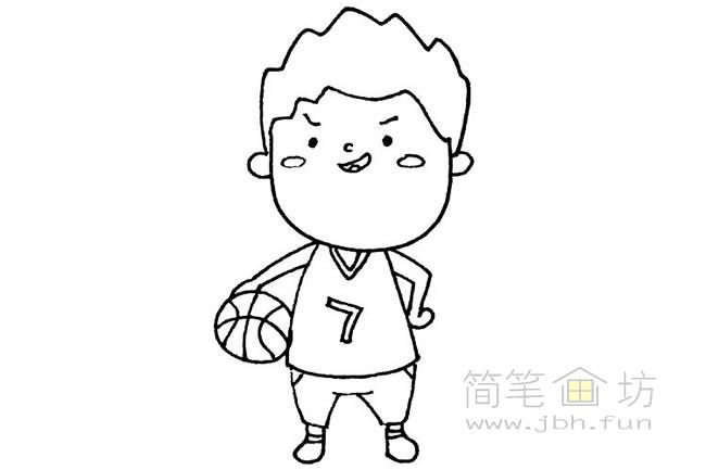 卡通篮球运动员简笔画(1)