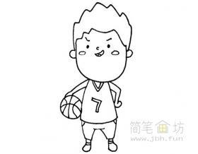 卡通篮球运动员简笔画