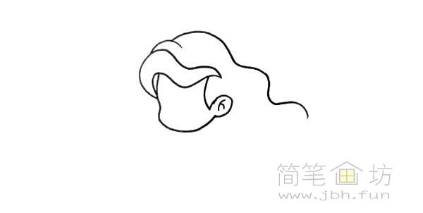 卡通美人鱼简笔画彩色画法【彩色】(2)