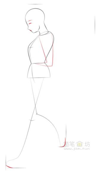 卡通美少女简笔画画法步骤教程(3)