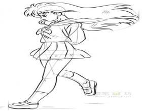 卡通美少女简笔画画法步骤教程