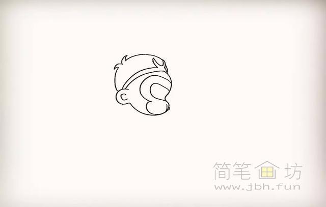 卡通孙悟空简笔画教程步骤【彩色】(5)