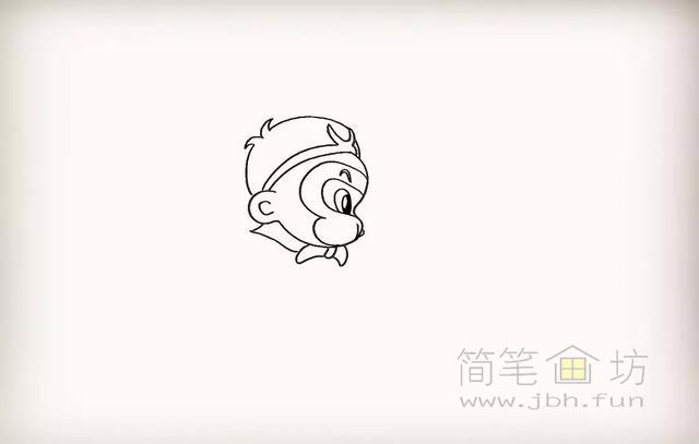 卡通孙悟空简笔画教程步骤【彩色】(7)