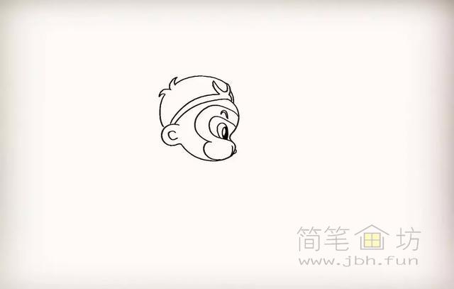 卡通孙悟空简笔画教程步骤【彩色】(6)