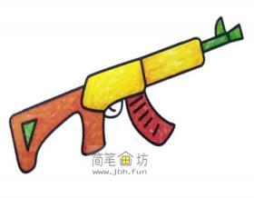 彩色简笔画步枪图片
