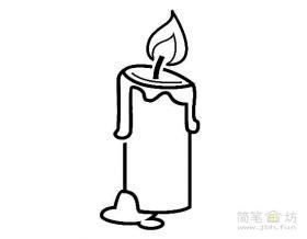 6幅蜡烛简笔画图片素材