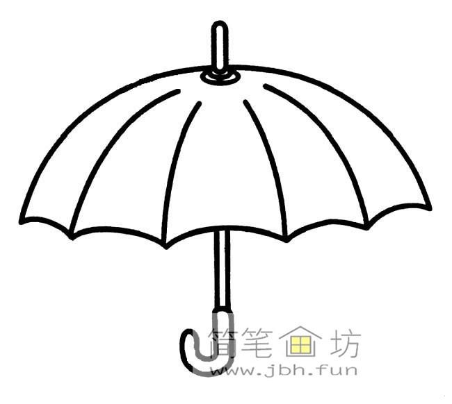 雨伞简笔画图片3幅(2)
