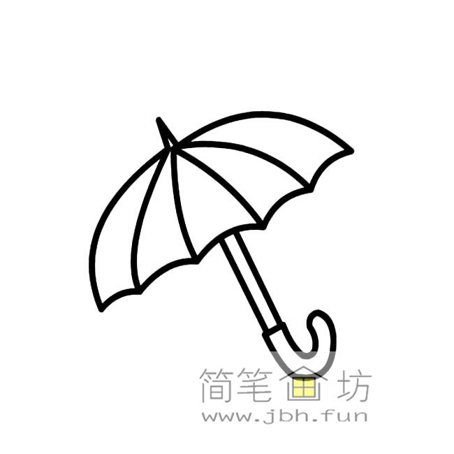 雨伞简笔画图片3幅(3)