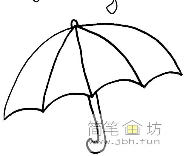 雨伞简笔画图片3幅(1)