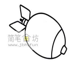 儿童简笔画:炸弹的画法图片